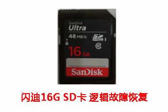 合肥李先生16G闪迪SD卡逻辑故障数据恢复成功案例展示